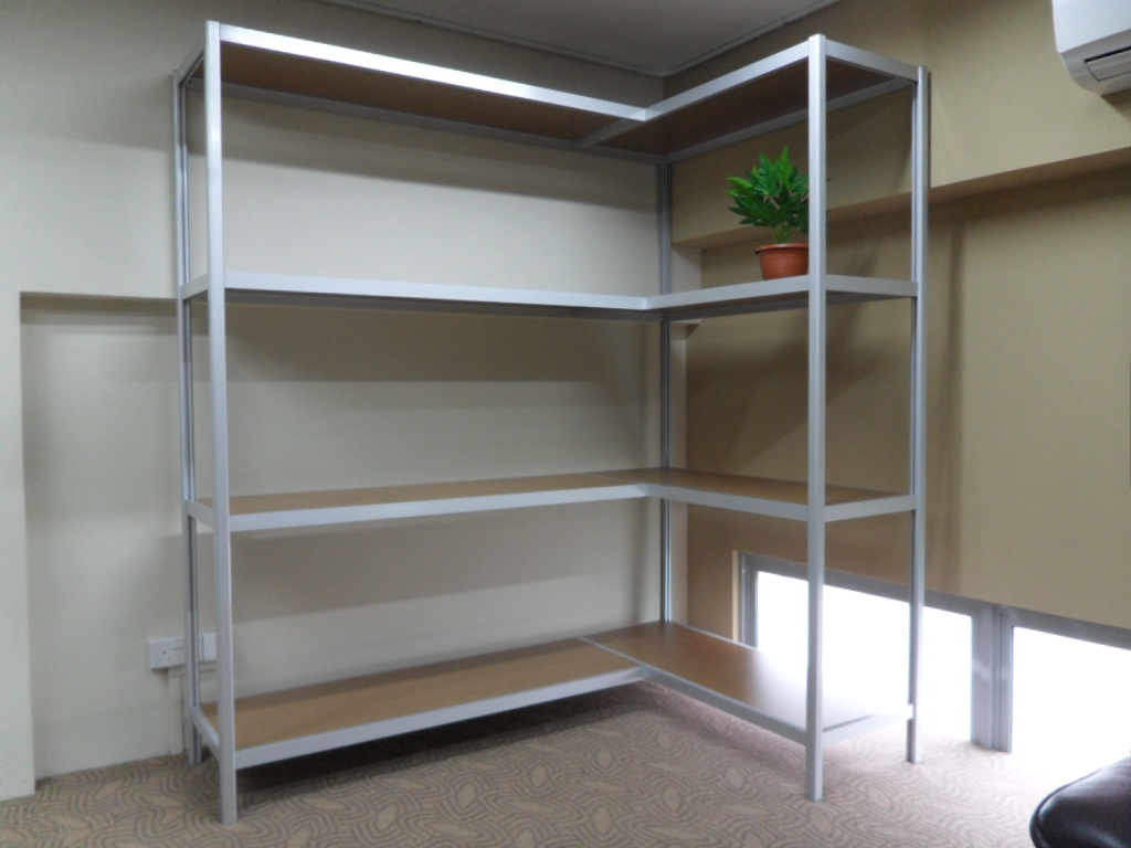 Beige (off white) Boltless racking are finished with high quality ...